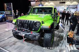 jl jeep 2017 la auto show mojito green jeep jl wrangler rubicon unlimited