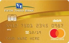 debt cards gold debit card fifth third bank