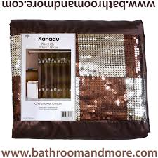 xanadu brown fabric shower curtain with sequin check detailing