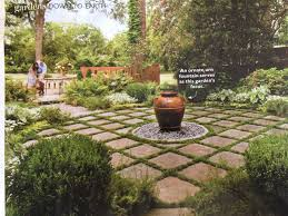 mondo grass and pavers with focal point hardscapes pinterest