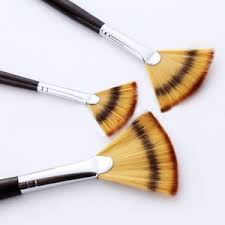 fan brush oil painting 3pcs art paint fan brushes set for watercolor acrylic oil painting