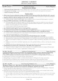 Sample Resume Of A Civil Engineer by Mechanical Design Engineer Sample Resume