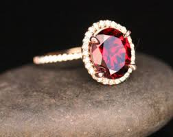 garnet engagement ring etsy your place to buy and sell all things handmade