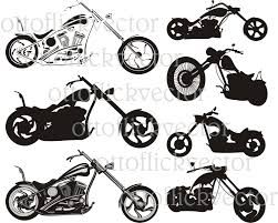 honda cdr bike chopper motorcycle vector clipart eps cdr ai png jpg digital
