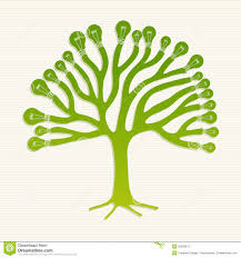 green recycle light bulbs tree illustration stock photos image