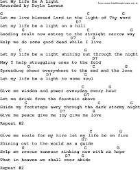light of the world chords let my life be a light bluegrass lyrics with chords