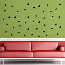 black triangle wall art mural decor sticker living room bedroom