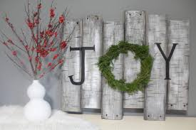 Birch Wood Sign Holiday Decor With Real Juniper Wreath Wel e