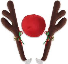 Christmas Reindeer Car Decorations by Amazon Com Oxgord Car Window Roof Front Accessories Rudolf