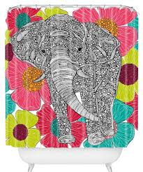 Deny Shower Curtains Awesome Elephant Shower Curtains