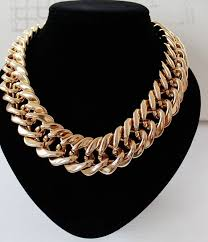 long chain choker necklace images _ fishsheep statement big chunky chain choker necklace for jpg