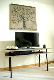tv stand amazing diy simple tv stand from galvanized pipes dog