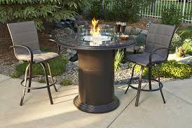 Granite Fire Pit by Grand Colonial Fire Pit Table Chat Dining Or Pub Height Fire
