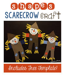 shapes scarecrow craft scarecrow crafts craft activities and