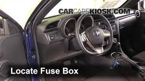 Scion Interior Interior Fuse Box Location 2011 2016 Scion Tc 2012 Scion Tc 2 5