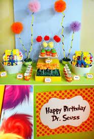 dr seuss birthday party ideas dr seuss the lorax dessert table lorax dessert table