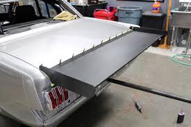 installing ed quay u0027s sheetmetal wing on biting the bullitt dragzine