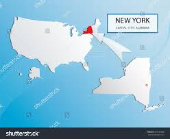 Usa Map New York City by New York Map Marked Usa Map Stock Vector 169168808 Shutterstock