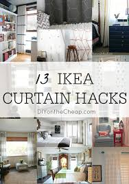 Purple Curtains Ikea Decor 13 Diy Ikea Curtain Hacks Window Coverings On A Budget Ikea