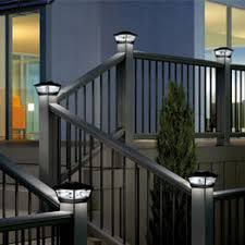 Solar Pillar Lights Costco - deck lighting decksdirect