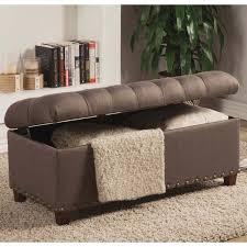 tosin nailhead tufted storage ottoman bench free shipping today