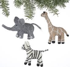 ornaments animals 28 images set of 3 needle felt wool safari