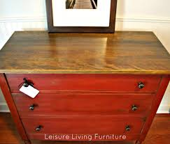 Red Shabby Chic Furniture by Leisure Living Primer Red Dresser