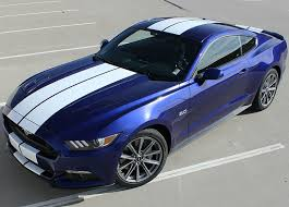 white mustang blue stripes 2015 2017 ford mustang stallion racing stripes graphic kit