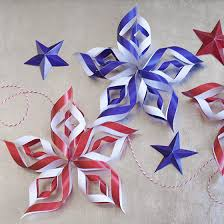 4th Of July Decoration Ideas Diy Paper Stars For Fourth Of July