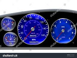car dashboard car dashboard speedometer motor sportscar blue stock vector