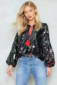 velvet blouse wood you be mine embroidered velvet blouse shop clothes at