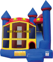 Backyard Bounce Backyard Combo Module Castle Combo Bounce Houses For Sale