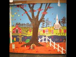 Preschool Wall Decoration Ideas by Fall Bulletin Board Ideas For Preschool Youtube