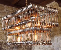 Chandelier Made From Plastic Bottles Fork And Spoon Chandeliers U2022 Nifty Homestead