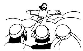 ascension of jesus christ coloring pages family holiday net