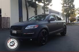 matte black car audi q7 wrapped in 3m matte black car wrap wrap bullys