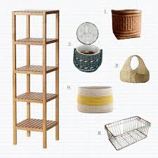 Basket Storage Shelves by Project Home Sweet Home Bathroom Storage Mint