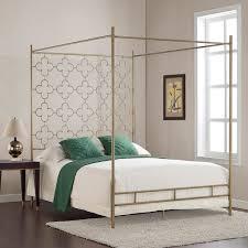 retro glitz quatrefoil queen canopy bed gold queen canopy bed