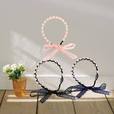 banded headbands 2017 fashion women headbands wind pearl wrapped lace bow