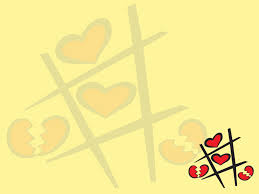 heart design for powerpoint heart tic tac toe powerpoint templates love red yellow free