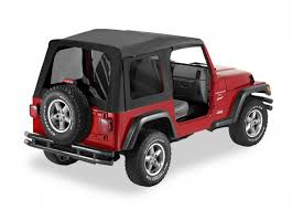 jeep frameless soft top bestop supertop replacement skin w tinted windows for 97 06 jeep