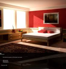 Brown Accent Wall by Master Bedroom Bedroom Brown Accent Wall With Red Comforter For