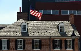 American House Flag Celebrating The Stars And Stripes