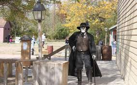 cowtown brings out the spirits zombie gunfighters for halloween