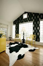 Ikea Hide Rug Ikea Cow Skin Family Room Farmhouse With Barn Door Black