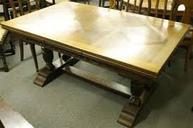 antique draw leaf table antique french oak draw leaf table with double column base