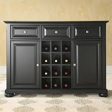 Sideboard For Dining Room Black Dining Room Buffet Sideboard U0026 Wine Storage Cabinet