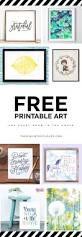 21 free printable art prints to quickly decorate the barest of