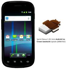 android ics sprint nexus s 4g android 4 0 ics update imm76d rolling