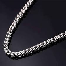 chain necklace size images Oakland 5mm stainless steel men 39 s wheat link chain necklace two jpg